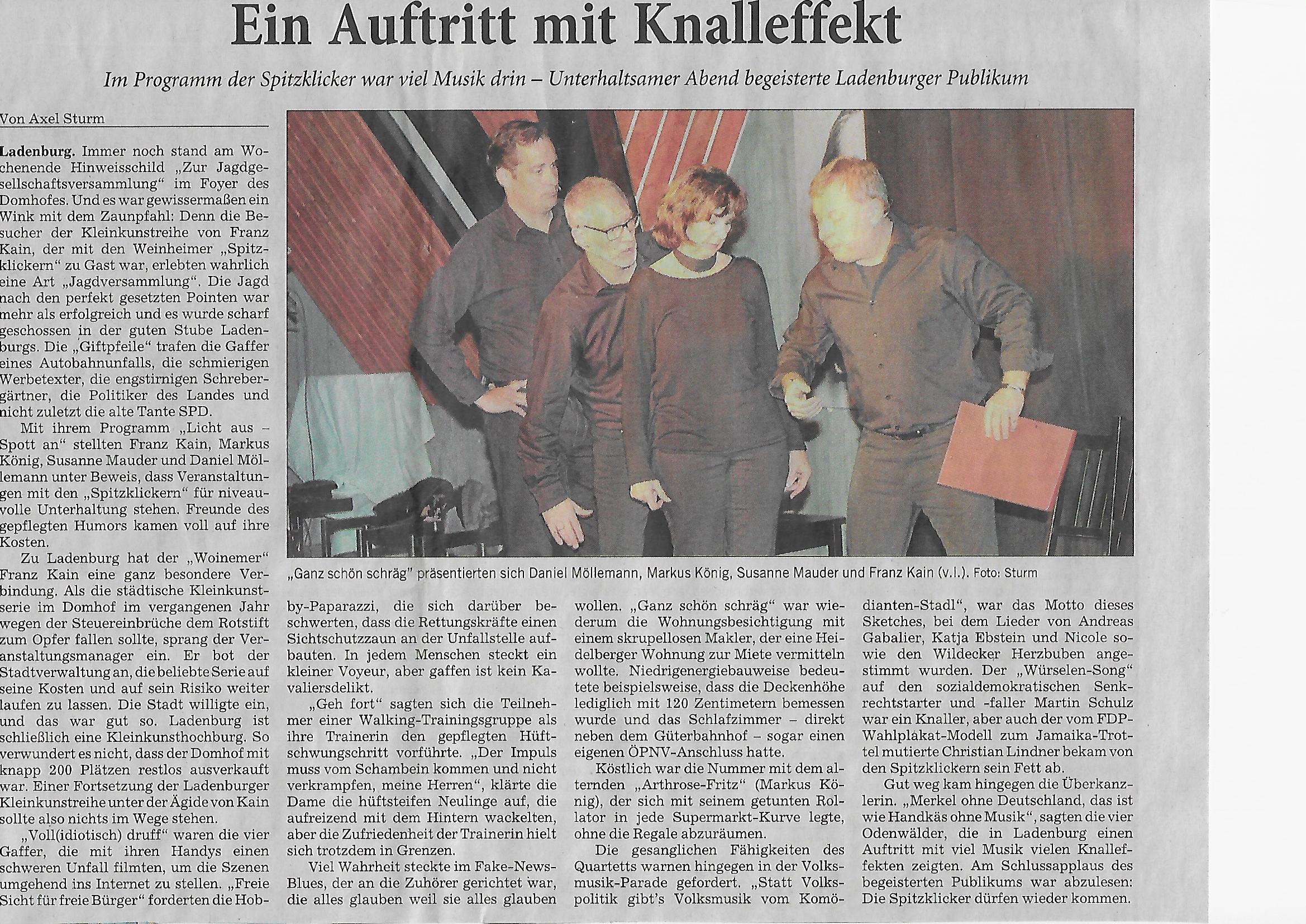 Rhein-Neckar-Zeitung 15. März 2018