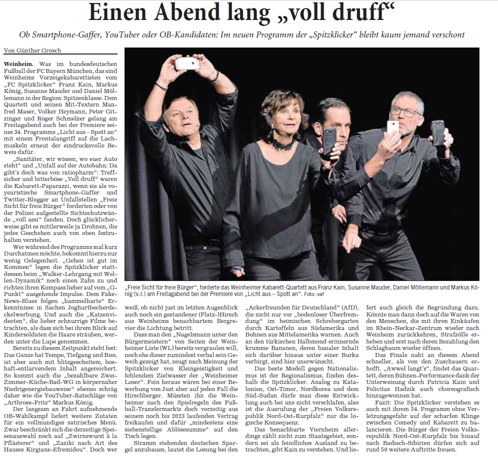 Rhein-Neckar-Zeitung – 15. Januar 2018