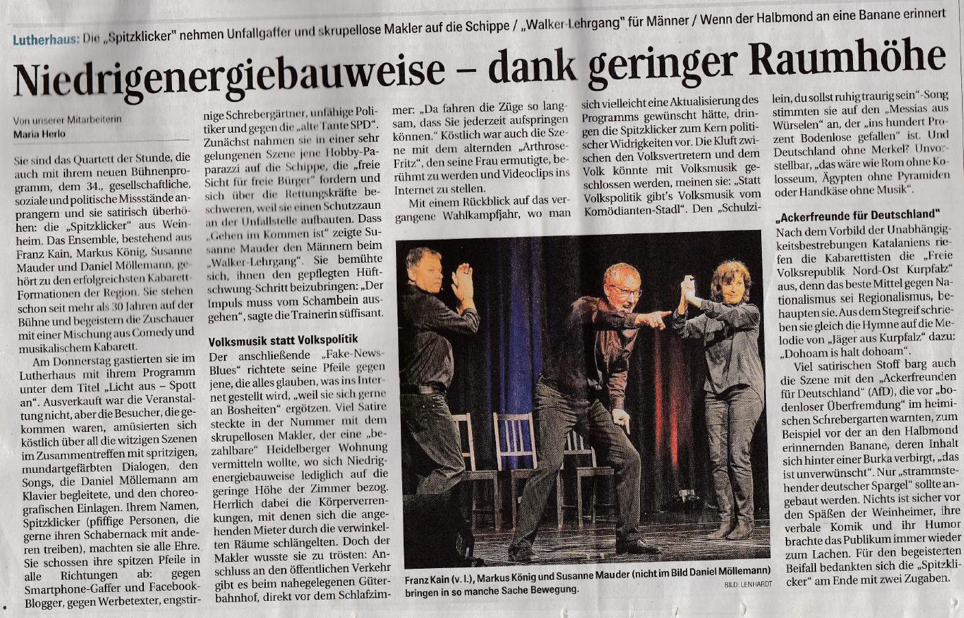 Schwetzinger Zeitung – 14. April 2018